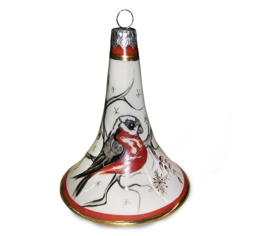 Ёлочная игрушка Колокольчик №1 (надглазурная роспись) - 993159905