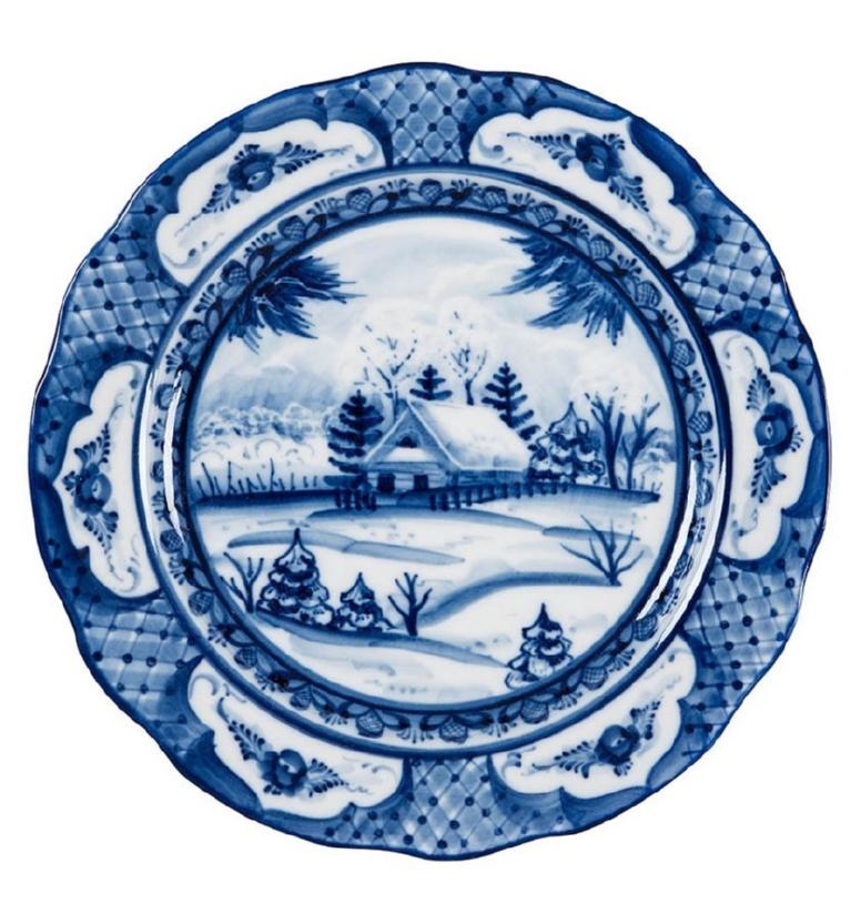 """Тарелка пирожковая Дубок """"Зимний пейзаж"""" (диаметр 175 мм) - 993003705"""