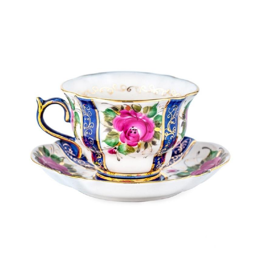 Чайная пара Орхидея (надглазурная роспись) - 993041615