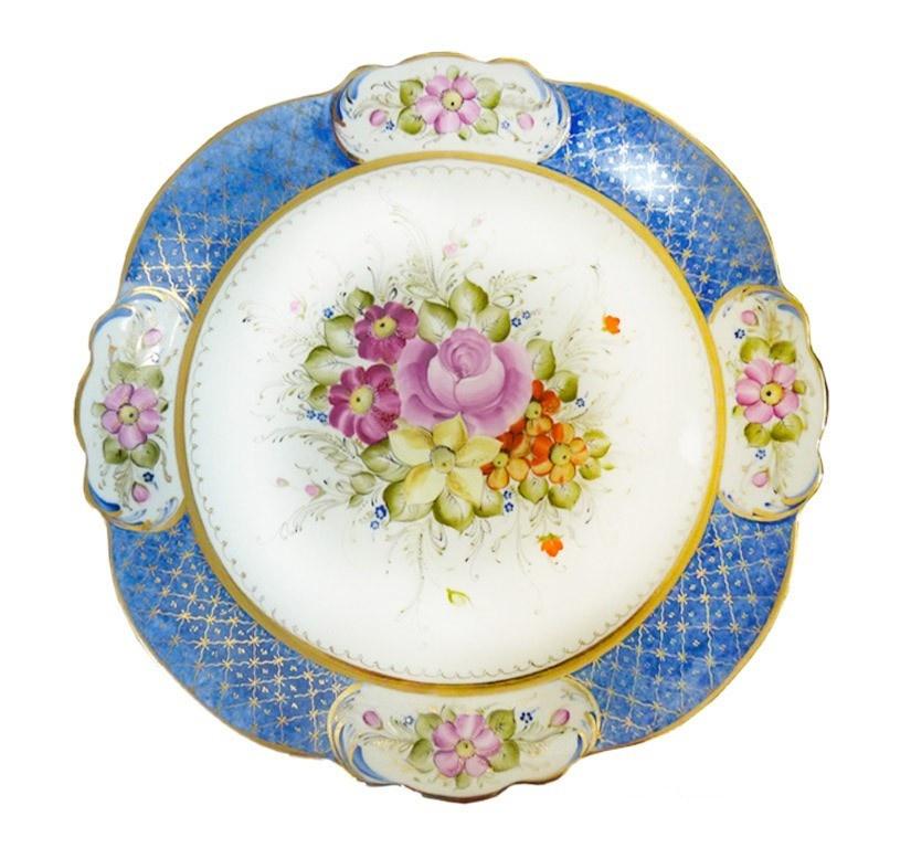 Блюдо Юбилейное (надглазурная цветная роспись) - 993137805