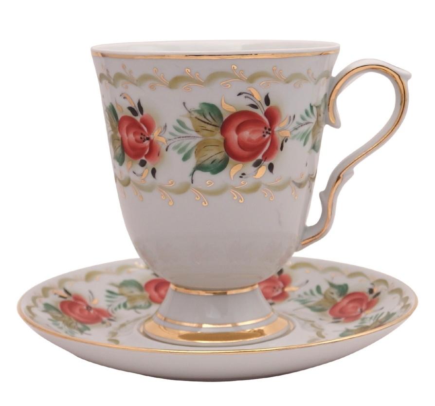 Чайный набор Элегантный (надглазурная роспись) - 999002615