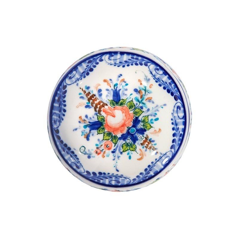 Шкатулка Одуванчик (подглазурные цветные краски, кобальт) - 993034891