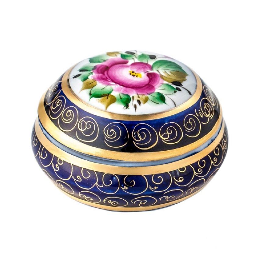 Шкатулка Одуванчик (надглазурные цветные краски, кобальт, золото) - 993045005