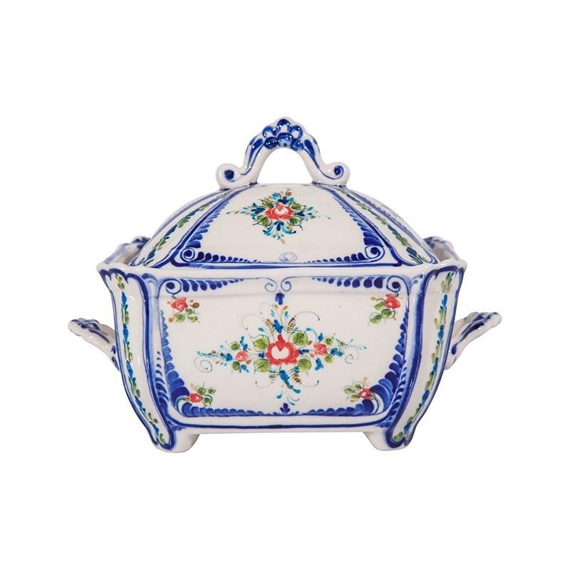 Шкатулка Сундучок (подглазурные цветные краски, кобальт) - 993061491