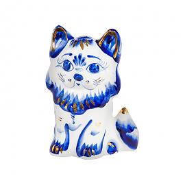 Скульптура котенок Пушок (золото) - 993087600