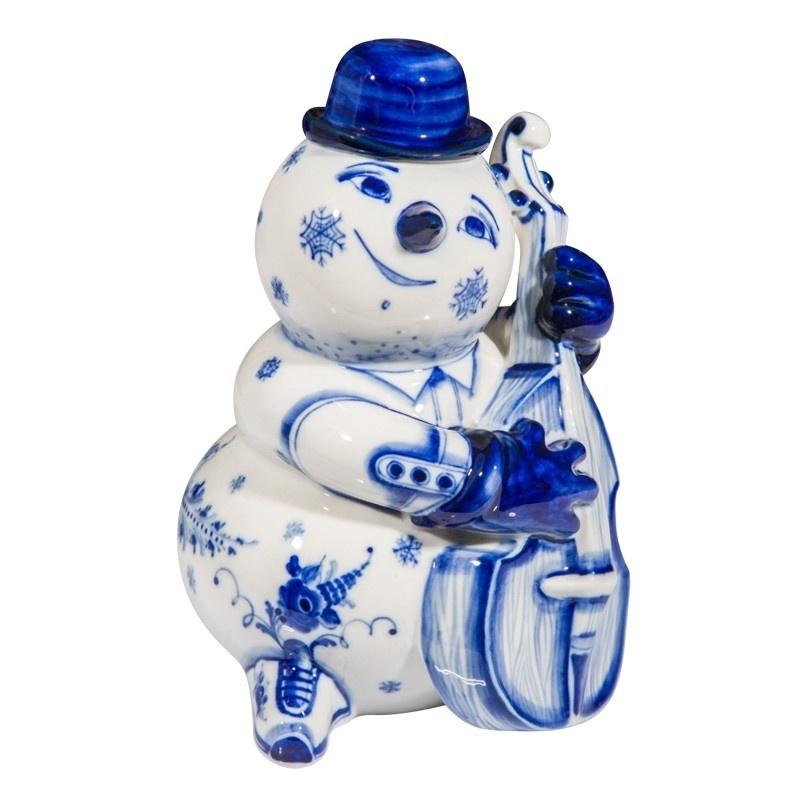 Скульптура Снеговик с контрабасом - 993304701