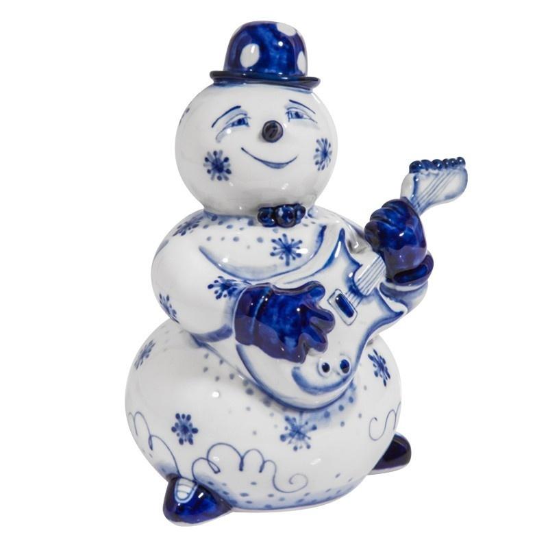 Скульптура Снеговик с гитарой - 993304721