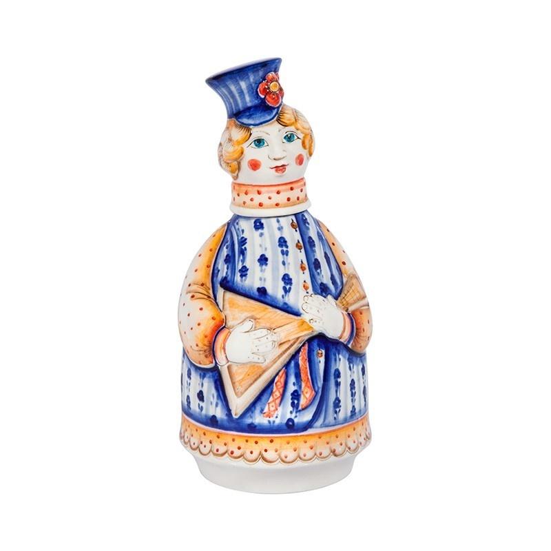 """Штоф Матрен """"Русские гулянья"""" (подглазурные цветные краски, кобальт) - 993316771"""
