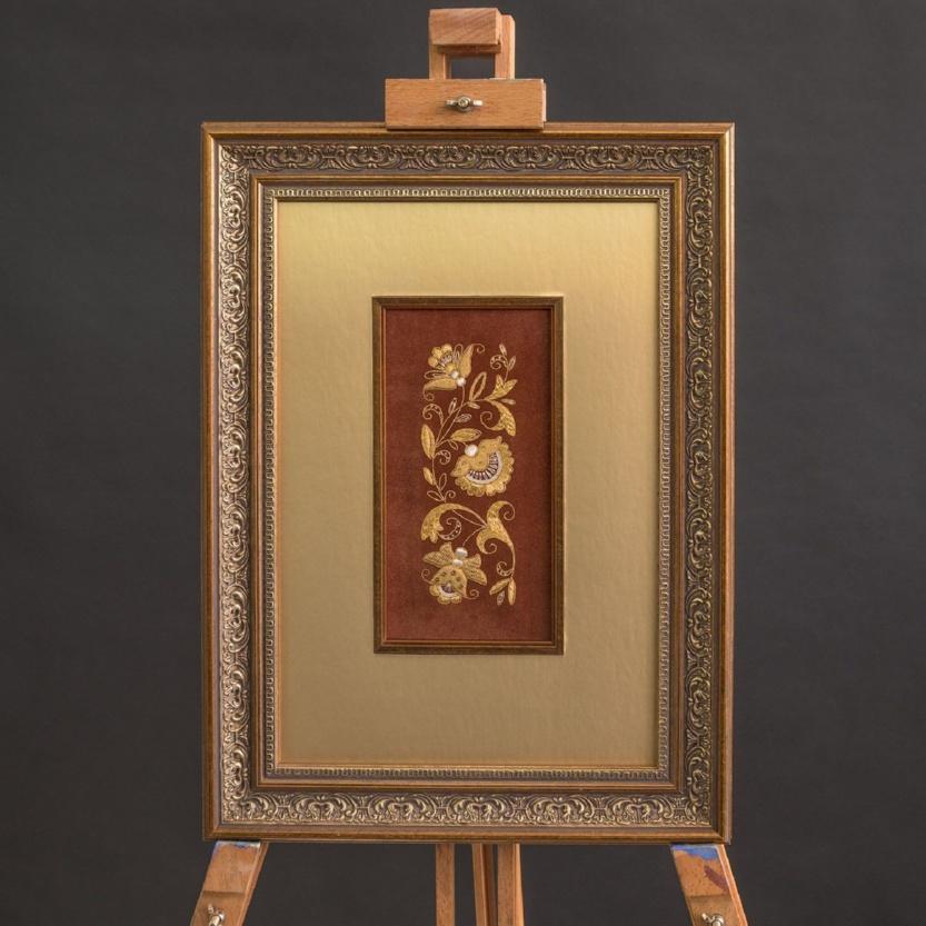 Панно ручная вышивка «Луговые цветы» - р.1003
