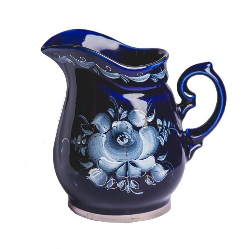 Сервиз чайно-кофейный Чародейка (кобальт, краски, платина) - 993002915
