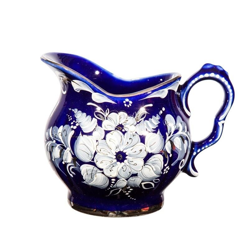 Сервиз чайный Голубая рапсодия новая роспись (глухой кобальт, краски, платина) - 993306006