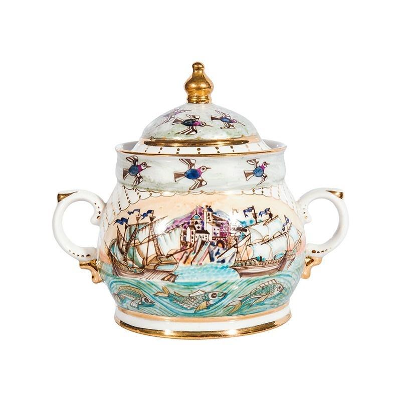 Сервиз чайный Крым (надглазурные цветные краски, золото) авторская работа - 993318105