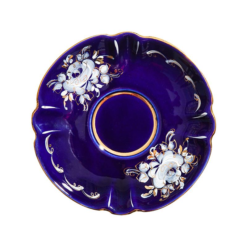 Сервиз чайный Орхидея (глухой кобальт, краски, золото) - 993049713