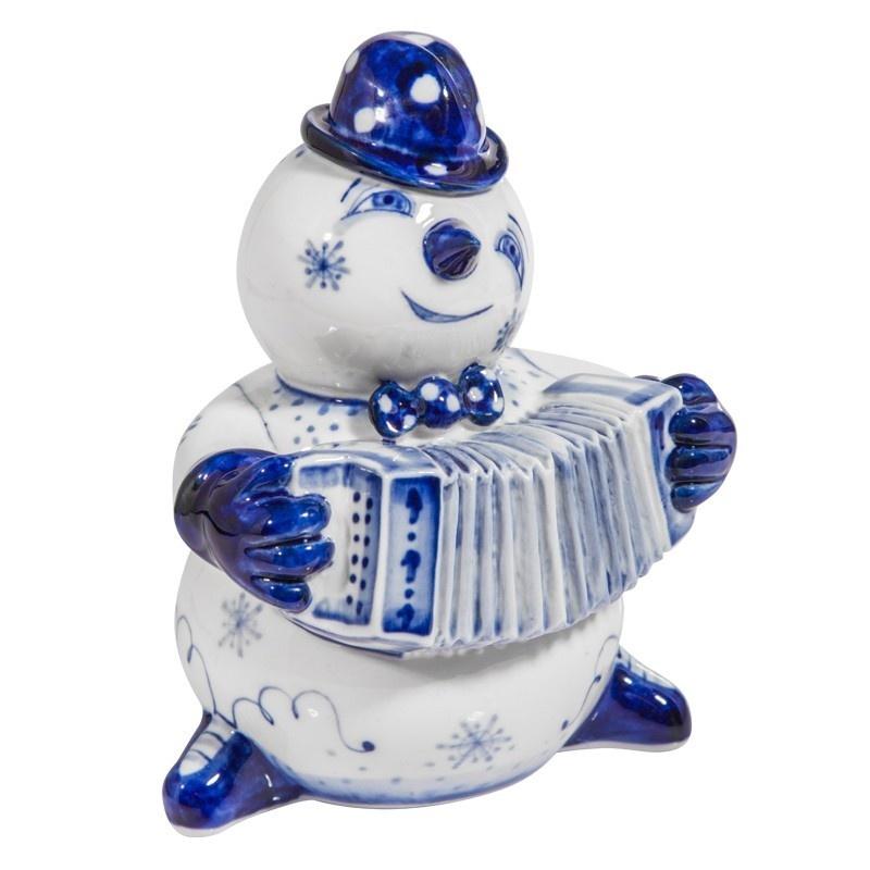 Скульптура Снеговик с гармошкой - 993304711