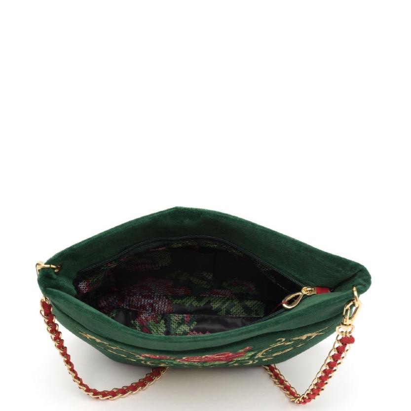 Бархатная сумка «Дольче роза» цвет черный - М.734-1 Р.2242