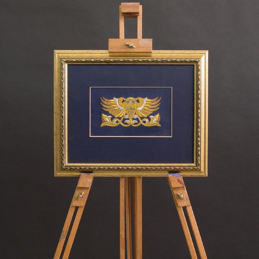 Панно ручная вышивка «Сова» - р.1039