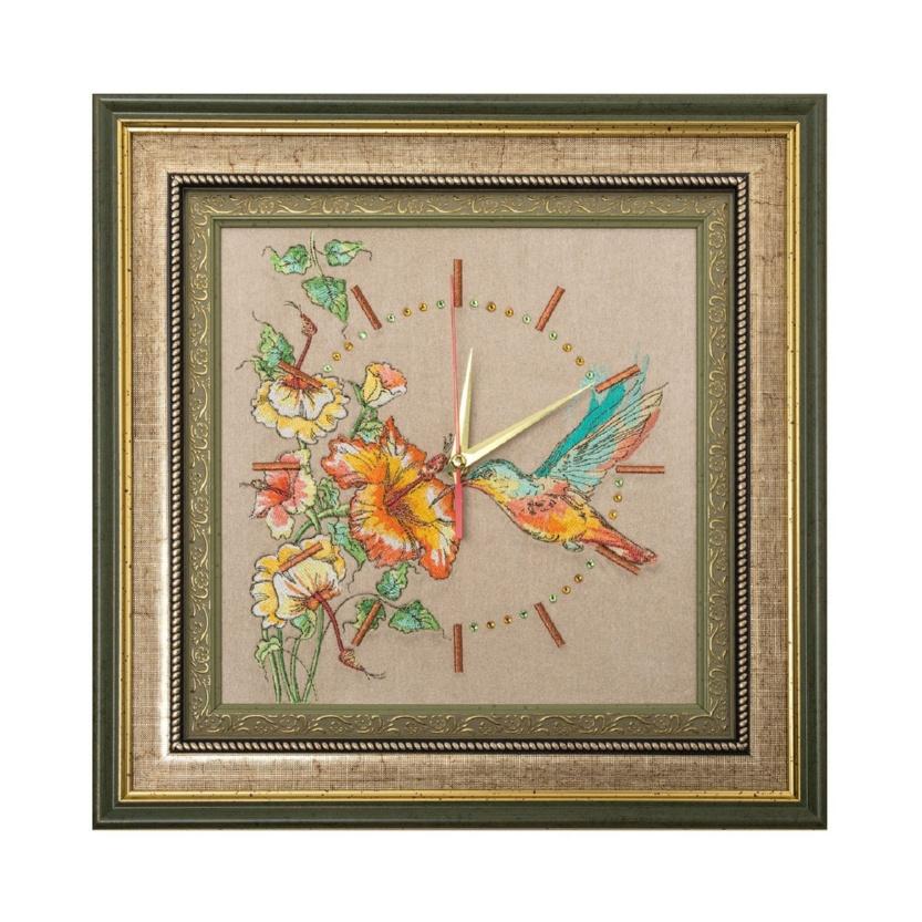 Панно-часы «Колибри» - р.2526