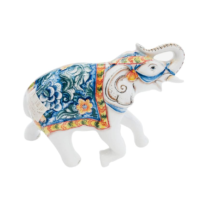 Скульптура Слон №4 (подглазурные цветные краски, кобальт) - 993312001
