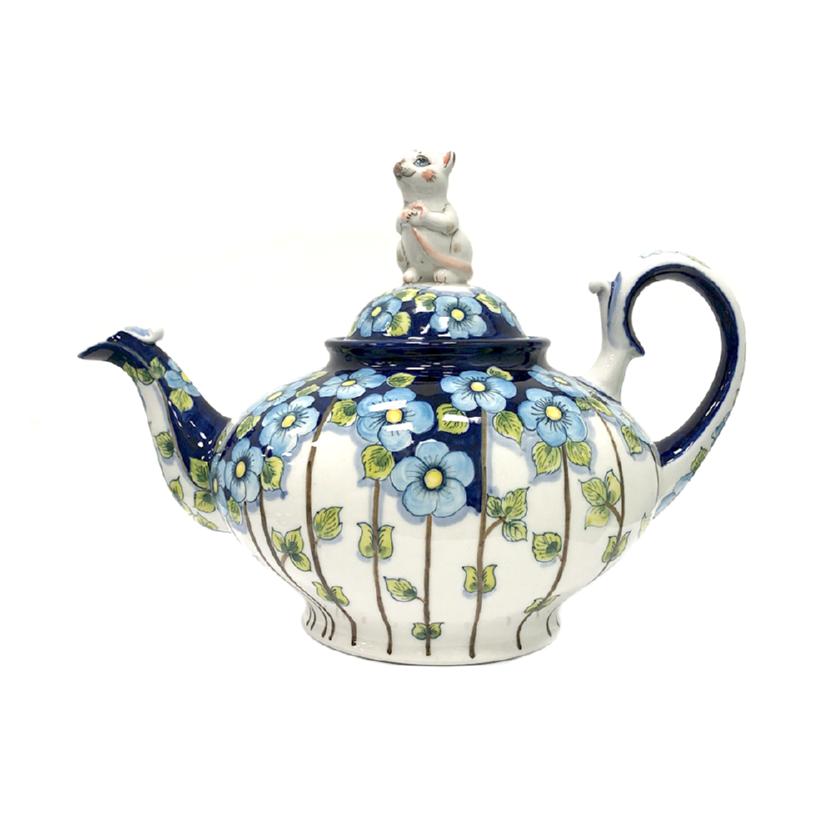 Чайник Всё коту масленица (подглазурные цветные краски, авторская работа) - 993414641