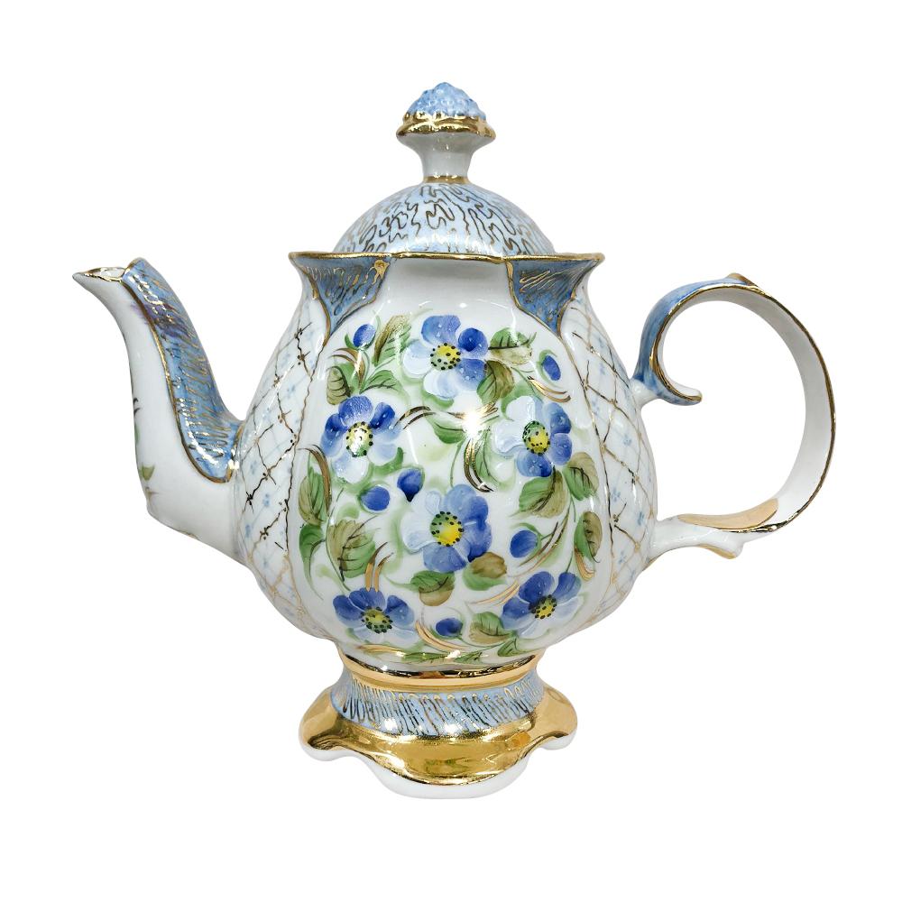 """Сервиз чайный Цветок в авт. р. Сорокиной """"Голубые цветы"""" - 993224416"""