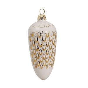 Елочная игрушка Шишка №2 (белье/золото) - 993207500
