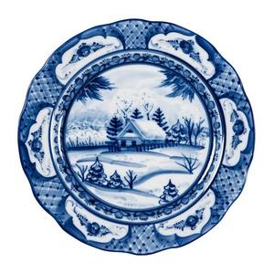 """Тарелка мелкая закусочная Дубок """"Зимний пейзаж"""" (диаметр 240 мм) - 993004405"""