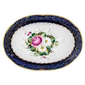 Блюдо Овальное (надглазурная цветная роспись) - 993057705
