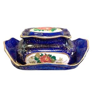 Маслёнка Астра (надглазурная роспись) цвет сиреневый - 993118905