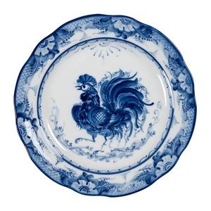 """Тарелка мелкая закусочная Дубок """"Петух"""" (диаметр 240 мм) - 993190305"""
