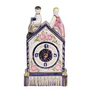 Часы Свидание (надглазурные цветные краски, кобальт, золото) - 993018615