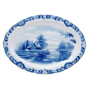 Блюдо овальное Лаванда малое (тематическая роспись) - 993154005