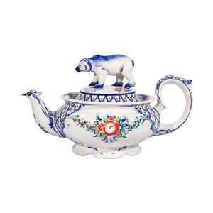 Чайник Медведь (подглазурные цветные краски, кобальт) - 993225051