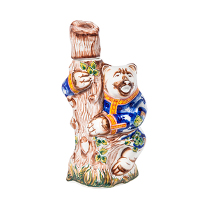 """Штоф Медведь """"Русские гулянья"""" (подглазурные цветные краски, кобальт) - 993311350"""