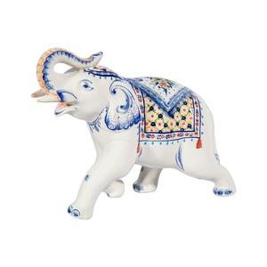 Скульптура Слон №1 (подглазурные цветные краски, кобальт) - 993311941