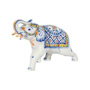 Скульптура Слон №2 (подглазурные цветные краски, кобальт) - 993311961