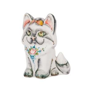 Скульптура котенок Пушок (подглазурные цветные краски) - 993312191