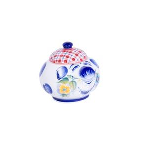 Сахарница Свинка (подглазурные цветные краски, кобальт) - 993313461