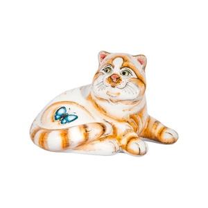 Скульптура кот Бонифаций (подглазурные цветные краски) - 993315201