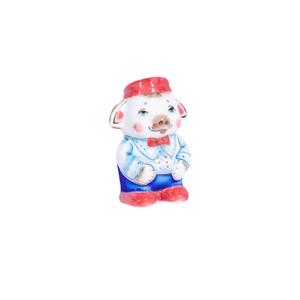 Скульптура поросенок Фантик (подглазурные цветные краски, кобальт) - 993316311