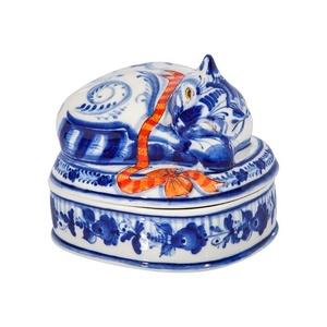 Шкатулка Дрема (подглазурные цветные краски, кобальт) - 993312261
