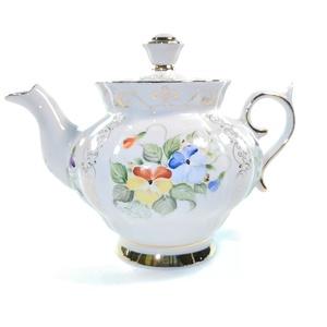 Сервиз чайный Орхидея (надглазурная цветная роспись, авторская работа) - 993049716