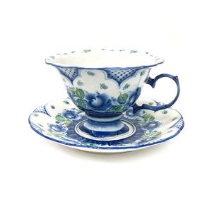 Чайная пара Цветок  (подглазурные цветные краски, авторская работа) - 993315461
