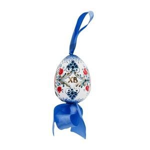 Яйцо с бантиком (подглазурные цветные краски, кобальт) - 993322471