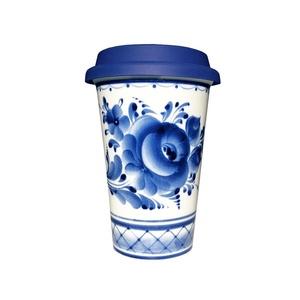 Кофейный стаканчик с силиконовой крышкой №1 - 993323701