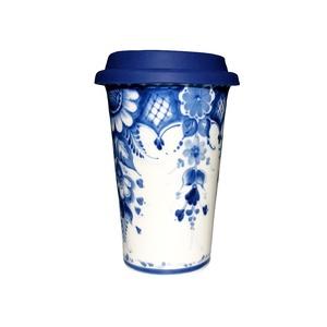 Кофейный стаканчик с силиконовой крышкой №1 - 993323711