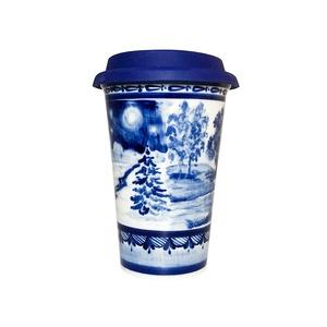 Авторский кофейный стаканчик с силиконовой крышкой №12 - 993323711