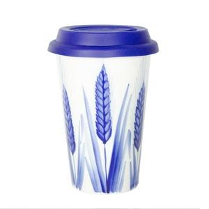 Авторский кофейный стаканчик с силиконовой крышкой Сергей Сысоев (Колосья) -
